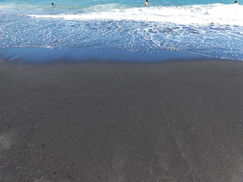 Black sand beach at Waianapanapa State Park. Never seen anything like it!